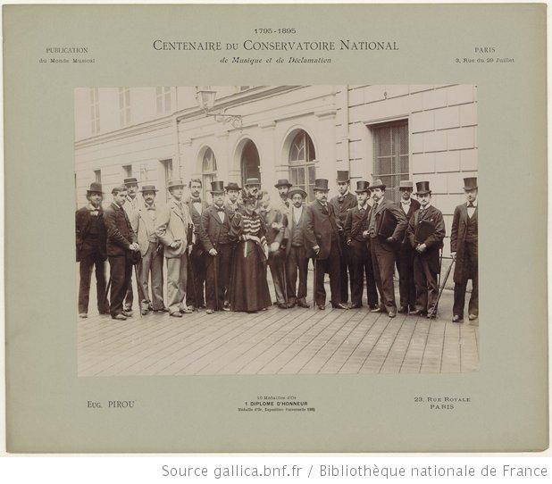 Centenaire du Conservatoire national de musique et de déclamation : 1795-1895. [Classe de composition musicale] / Eugène Pirou [photogr.] - ...