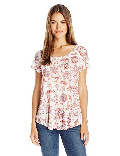 Lucky Brand Women's Indo Floral Tee - http://www.darrenblogs.com/2016/08/lucky-brand-womens-indo-floral-tee/
