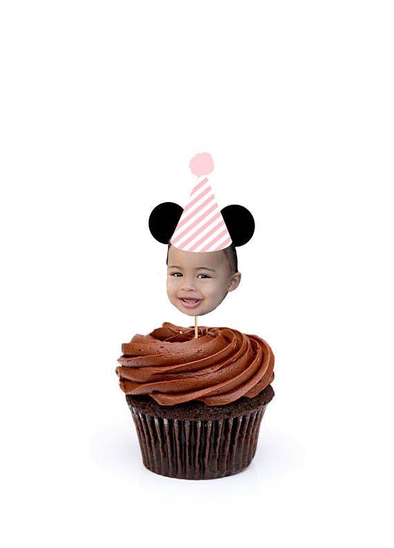 Amazing Minnie Mouse Cupcake Toppers Mickey Mouse Cupcake Toppers Custom Funny Birthday Cards Online Necthendildamsfinfo