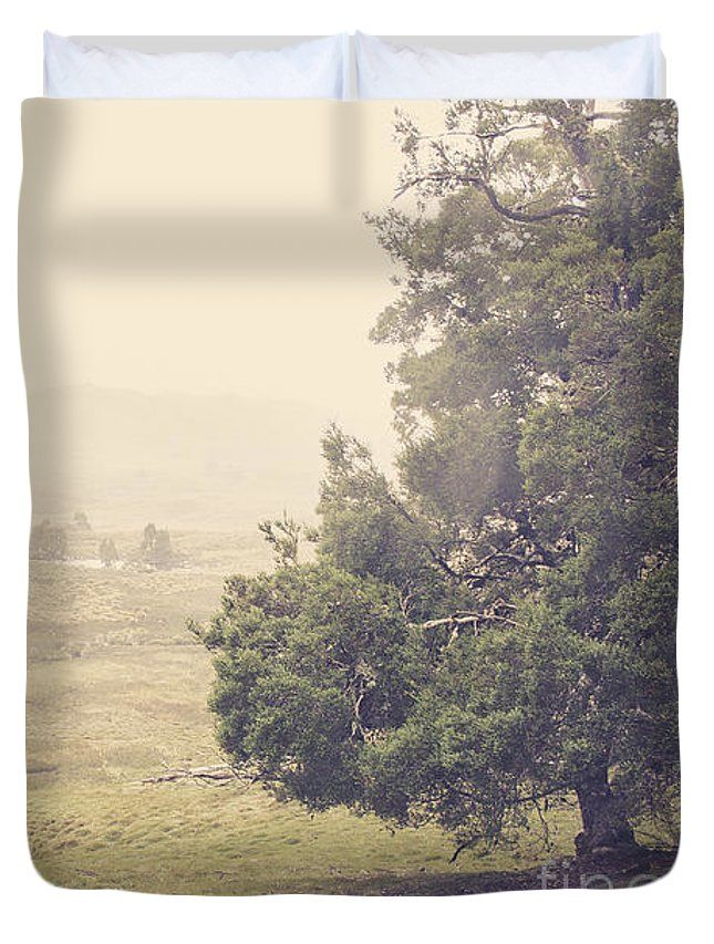 Cradle Mountain Duvet Cover featuring the photograph Country Farm Wilderness. Rural Australia Landscape by Jorgo Photography - Wall Art Gallery