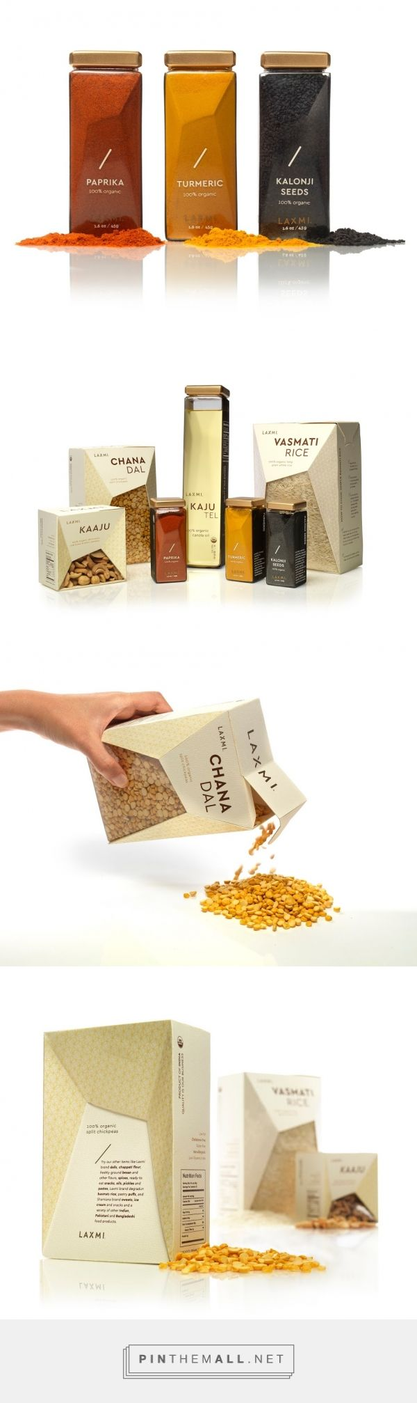 The Revolutionized Laxmi Indian Food packaging design concept by Ellie Cho - http://www.packagingoftheworld.com/2016/06/the-revolutionized-laxmi-student-project.html