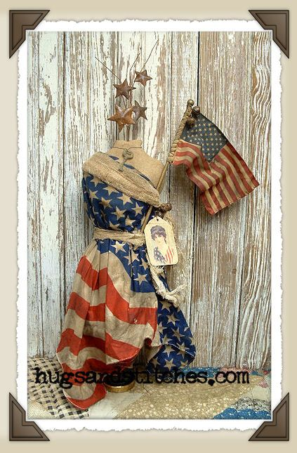 so would like to dress my dress maker form up for the holiday with an old flag, but my husband would kill me!