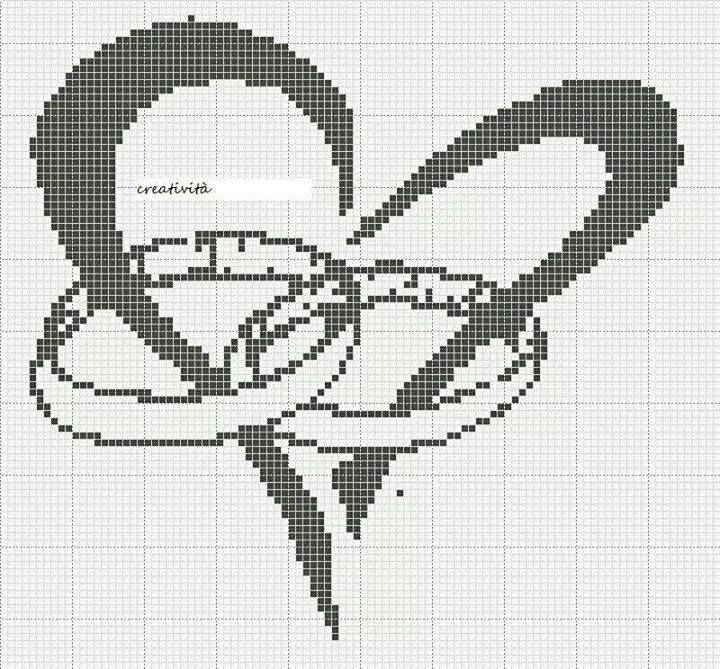 WEDDING BOND (no color chart available, just use photo/pattern chart as your stitch/color guide... or choose your own colors):