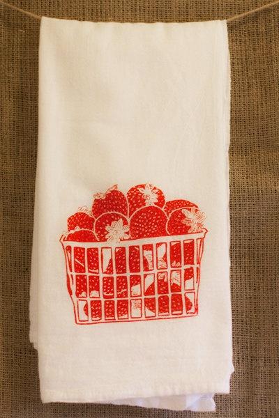 Strawberry dishtowels