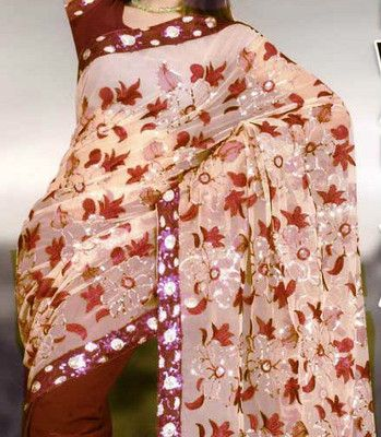 Bollywood Bridal Indian Designer Saree Wedding Page3 Partywear Fancy Sarees Sari -- love the leaves