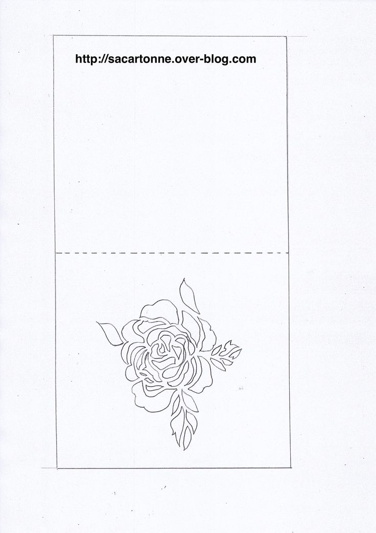 Gabarit gratuit Kirigami fleur                                                                                                                                                                                 Plus