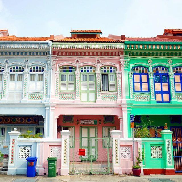 Peranakan Houses along Koon Seng Road