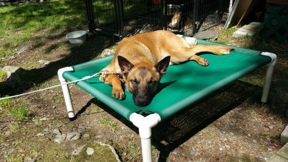 Elevated Bed Dog Bed Outside Beds Kennel Beds by DianesK9Creations