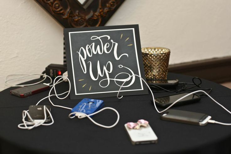 A unique and appreciated charging station! Photograph by Stephen Seebeck Photography. ~ Cosmopolitan Events