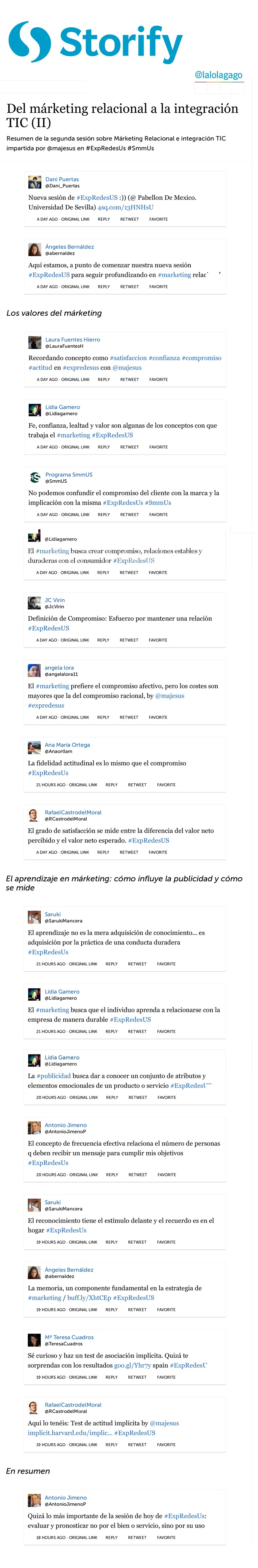 Del Marketing relacional a la integración TIC (II), sesión impartida por @majesus