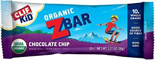 Organic Baked Whole Grain Energy Bars for Kids. The first snack bar created by a mom (Clif Bar Inc. co-owner, Kit) for moms of active kids, and specifically to meet school nutirition guidelines and fuel kids while they play. ZbaR comes in three flavors Peanut Butter, Caramel Apple and Chcolate... more details at http://supplements.occupationalhealthandsafetyprofessionals.com/weight-loss/bars-snacks/product-review-for-clif-kid-zbar-organic-energy-bar-chocolate-chip-1-27-ounce-