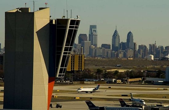 Philadelphia Airport Terminal F Philadelphia Skyline in the background