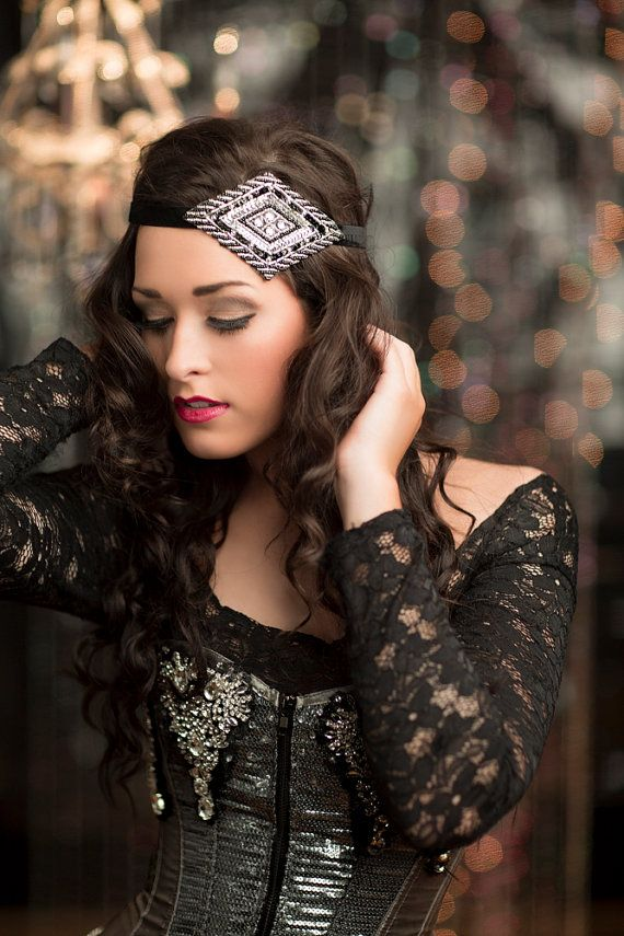gatsby style hair accessories roaring 20s great gatsby headpiece gold beaded headband 4071