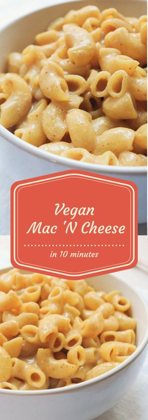 Vegan Mac 'N Cheese in under 10 minutes. This is a quick and simple killer Mac 'N Cheese recipe. No added vegetables, grains, breadcrumbs or baking - nothing! Simply just add your pasta with your vegan cheese sauce and enjoy.