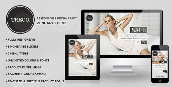 Trego - #Responsive #Zencart Template via @medosadvert - #php5 #html5 #css3 #boostrap