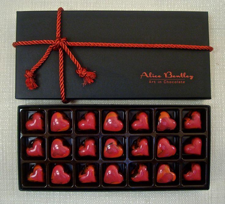 The Red Hearts 21 Box www.alicebentleychocolates