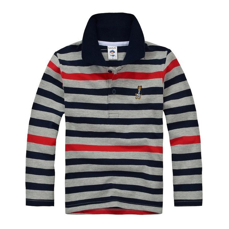 Top quality boys girls shirt  for kids long sleeve t-shirt cotton striped color 2 3 4 5 6 7 8 9 10 11 12 13 14 15 years