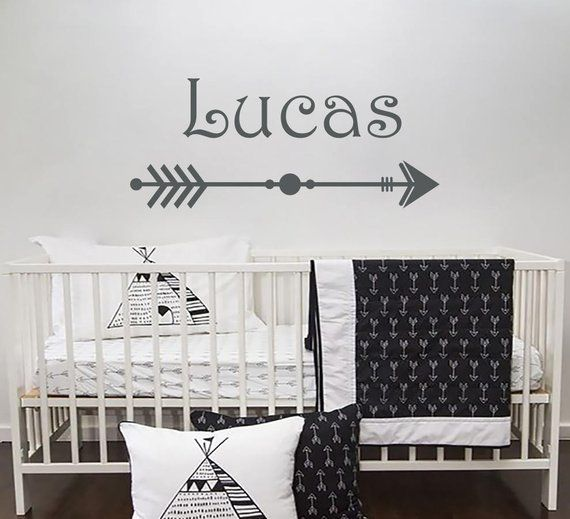 black friday personalized arrow boy name wall decal vinyl decal boys