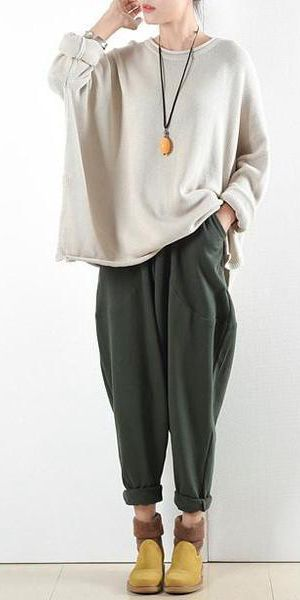 9ddf60bd4fe Spring Loose Cotton Casual Ankle Length Pants Women Clothes P2201 in ...