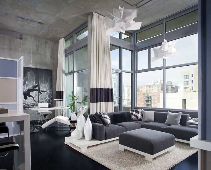 San Diego Downtown Condo - modern - living room - san diego - Chipper Hatter Architectural Photographer