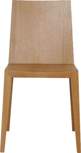 Ruskin spisestuestol med ben solid, lakkert eik, sete og rygg i lakkert eikefiner. Dimensjoner: D54 x H82 x B45cm, setehøyde: 44.5cm. Kr. 1520,-