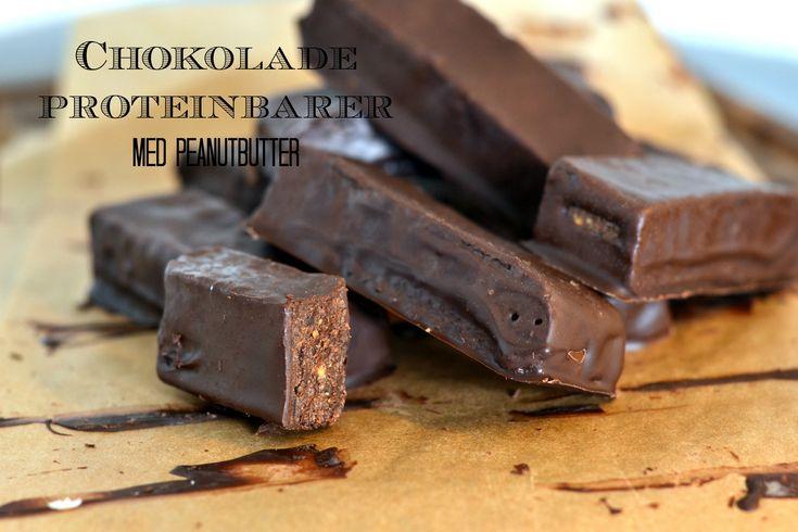Chokolade proteinbarer med peanutbutter