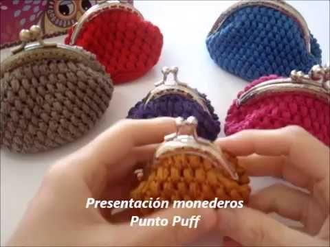 Presentación monederos ganchillo en Punto Puff (Ideas para regalo)