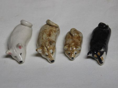 Shiba Clay Figurines by Shibakobo