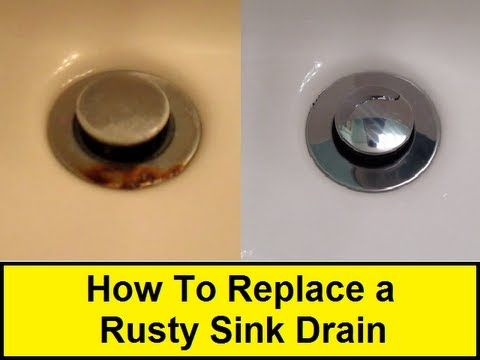 How To Replace a Rusty Sink Drain - All