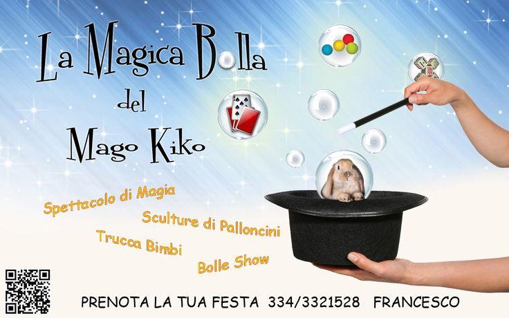 MAGO PRESTIGIATORE  FESTE PER BAMBINI  BOLLE GIGANTI  TRUCCA BIMBI ORGANIZZAZIONE COMPLETA DI PICCOLE FESTE .