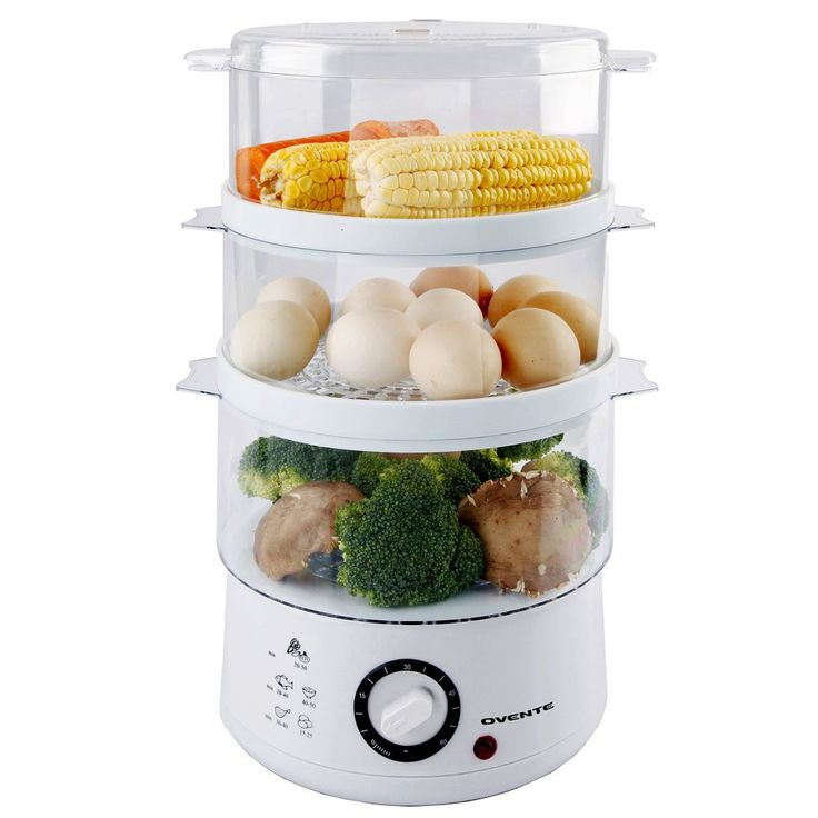 Ovente 3 Tier Electric Food Steamer #FS53W