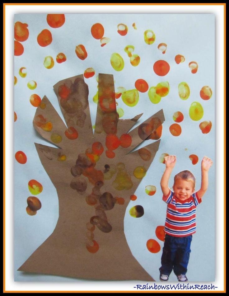Fall Tree Photo Keepsake in Preschool