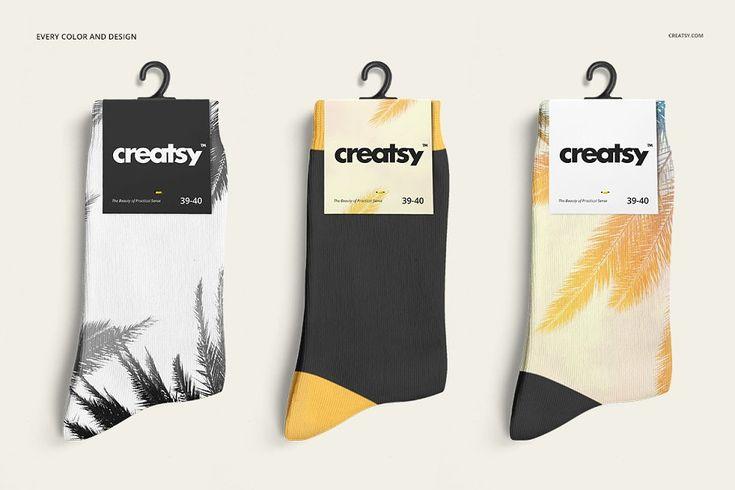 Socks Mockup Set Socks Packaging Mockup Templates Custom Socks Design