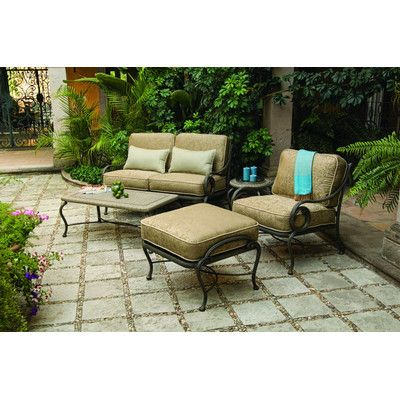 Woodard Landgrave Old Gate 3 Piece Deep Seating Group with cushions