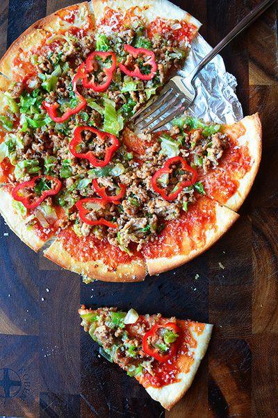 週末10分以内ピザ 甘辛ガーリックマヨ味 惚レタスと牛ひき肉で秋の食欲全開ピザ