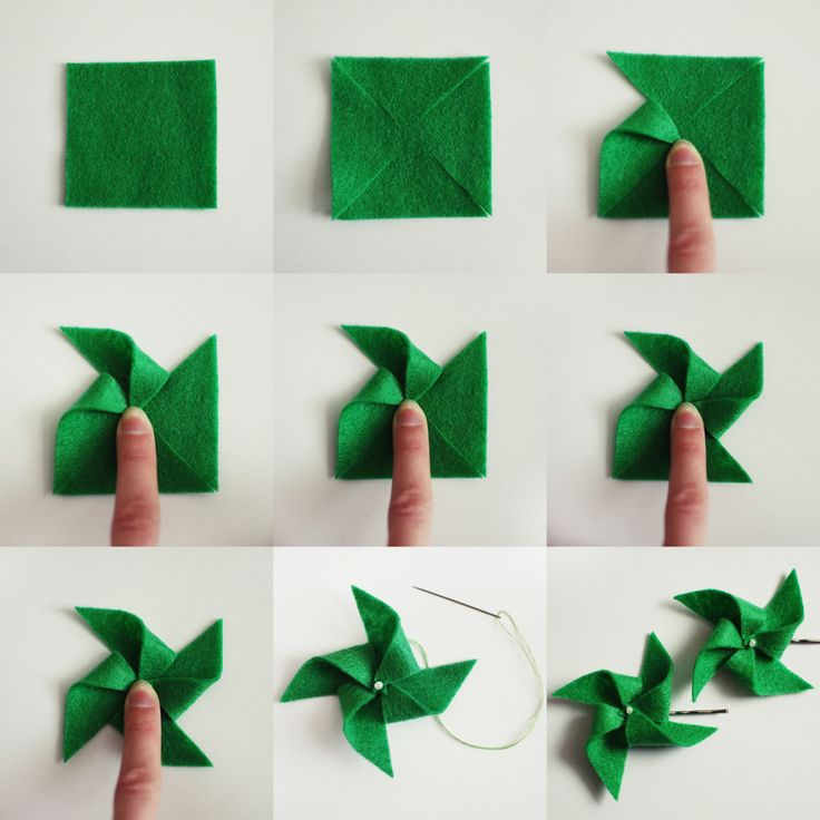 How to Make Felt Pinwheels - cute decor st patricks