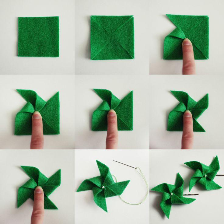easy felt pinwheels