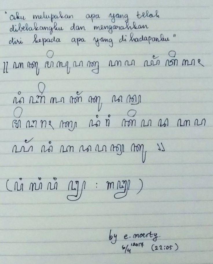 "19 Likes, 3 Comments - Murtianingsih (@moertya) on Instagram: ""Setelah 25 Tahun, Ternyata masih ingat menulis Aksara Jawa,( Bahasa Indonesia dalam Huruf Jawa)…"""