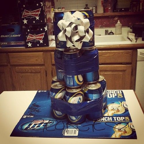 Made dads birthday cake! #birthday #beer #beercake #cake #party#AWESOME