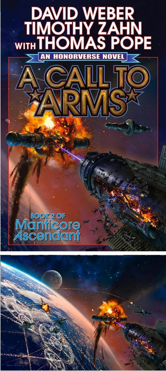 DAVID B. MATTINGLY - A Call To Arms by David Weber, Timothy Zahn & Thomas Pope - 2016 Baen Books - cover by Amazon