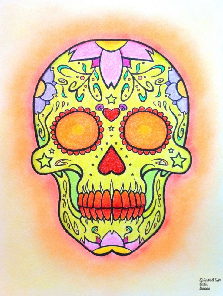 Day of the Dead free page Coloured with Prismacolor Premies