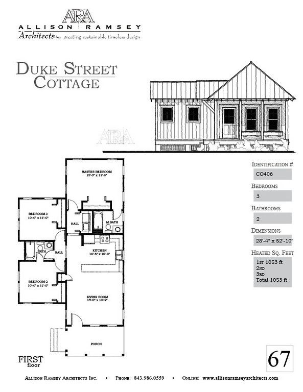 Duke street cottage allison ramsey architects house for House plan guys