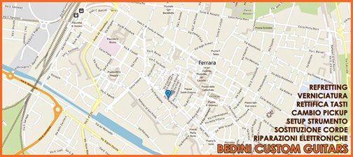 Via Ripagrande 65/A a Ferrara... il Laboratorio Bedini! #liutaio #bedinicustoguitars #chitarra #musica #music #guitar #modena #ferrara