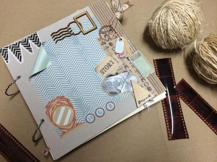 Album tipo scrapbook · regalos · álbum personalizado