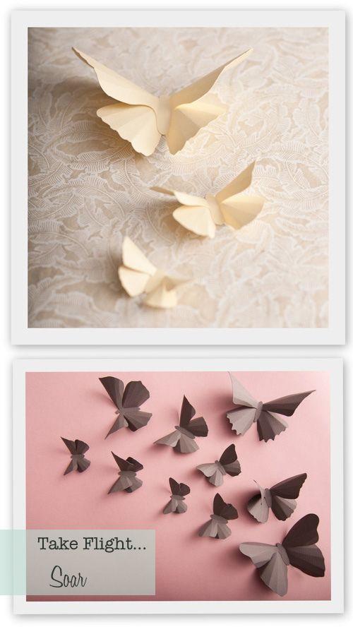 paper butterfliesWall Art, Art Decor, Wall Butterflies, Wall Decor, Little Girls Room, 3D Wall, Home Art, Girls Room Decor Butterflies, Paper Butterflies