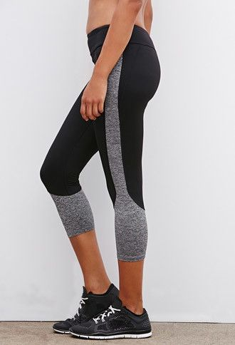 Colorblocked Athletic Capri Leggings | Forever 21 - 2000172598 medium