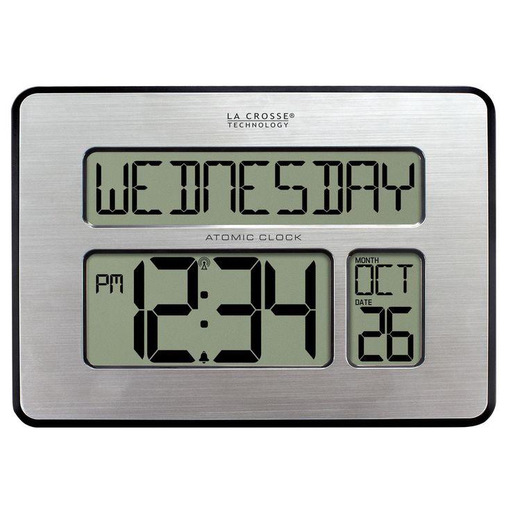 La Crosse Technology 513-1419BL-INT Backlit Atomic Full Calendar Large-digit Clock