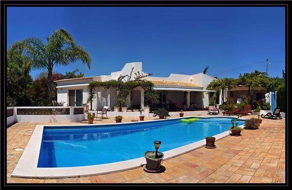Lovely pool area in Lagos, Algarve, Portugal.