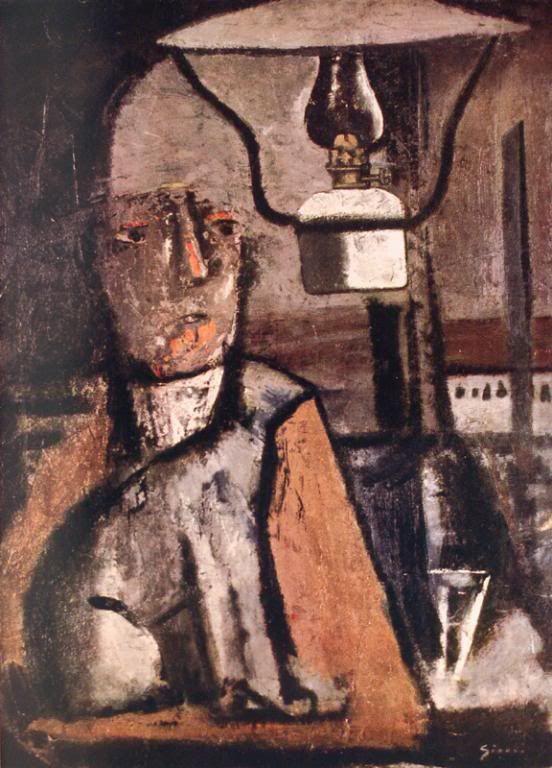 Mario Sironi Человек, керосинка, кот. 1920-25г. 67х49