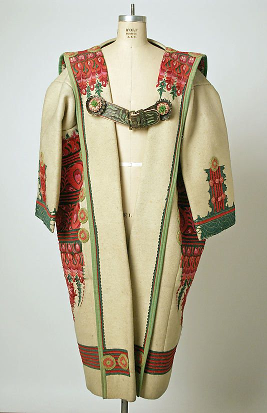 Cloak Date: late 19th century Culture: Hungarian Medium: wool